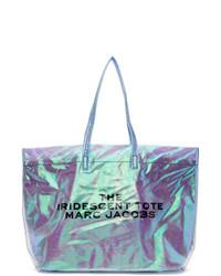 Sac fourre-tout en toile imprimé argenté Marc Jacobs