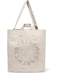 Sac fourre-tout en toile imprimé beige Stella McCartney