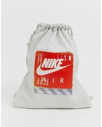 Sac fourre-tout en toile imprimé gris Nike