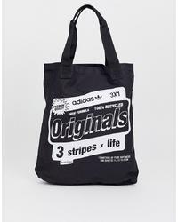 Sac fourre-tout en toile imprimé noir et blanc adidas Originals