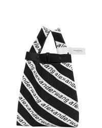 Sac fourre-tout en toile imprimé noir et blanc Alexander Wang
