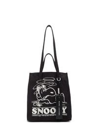 Sac fourre-tout en toile imprimé noir et blanc Marc Jacobs