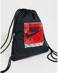 Sac fourre-tout en toile imprimé noir Nike
