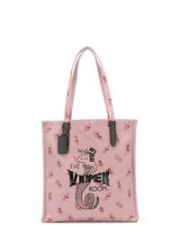 Sac fourre-tout en toile imprimé rose Coach