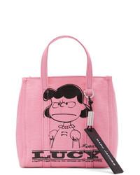 Sac fourre-tout en toile imprimé rose Marc Jacobs