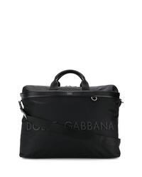 Sac fourre-tout en toile noir Dolce & Gabbana