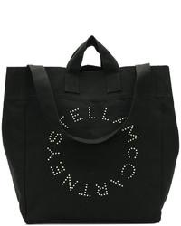 Sac fourre-tout en toile noir Stella McCartney