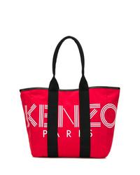 Sac fourre-tout en toile rouge Kenzo