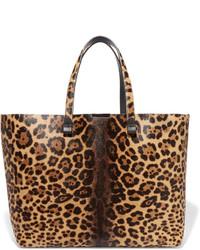 Sac fourre-tout imprimé léopard marron clair Victoria Beckham