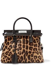 Sac fourre-tout imprimé léopard marron foncé Maison Margiela