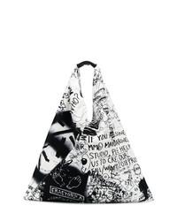 Sac fourre-tout imprimé noir MM6 MAISON MARGIELA