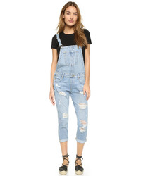 Salopette en denim bleu clair True Religion