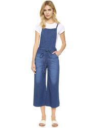 Salopette en denim bleue AG Jeans