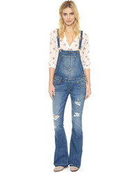 Salopette en denim bleue True Religion