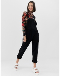 Salopette en denim noire Monki