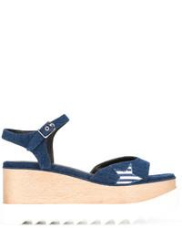 Sandales à étoiles bleu marine Stella McCartney