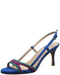 Sandales à talons bleues Pura Lopez