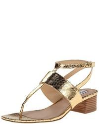 Sandales à talons dorées Steve Madden
