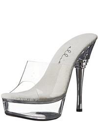 Sandales à talons en caoutchouc transparentes