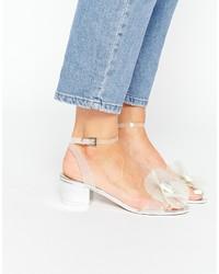 Sandales à talons en caoutchouc transparentes Asos