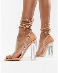 Sandales à talons en caoutchouc transparentes Public Desire