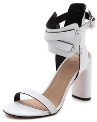Sandales à talons en cuir blanches IRO
