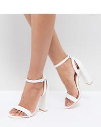 Sandales à talons en cuir blanches LOST INK