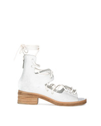 Sandales à talons en cuir blanches Marsèll