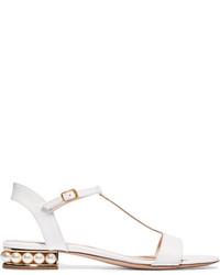 Sandales à talons en cuir blanches Nicholas Kirkwood