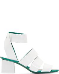 Sandales à talons en cuir blanches Proenza Schouler