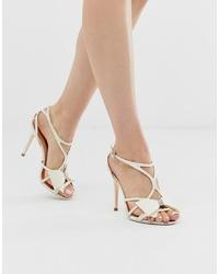 Sandales à talons en cuir blanches Ted Baker
