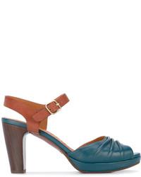 Sandales à talons en cuir bleu canard Chie Mihara