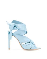 Sandales à talons en cuir bleues claires Alexandre Birman