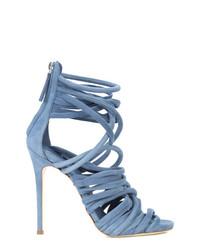 Sandales à talons en cuir bleues claires Giuseppe Zanotti Design