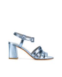 Sandales à talons en cuir bleues claires Maryam Nassir Zadeh