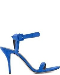 Sandales à talons en cuir bleues Alexander Wang
