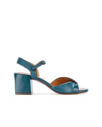 Sandales à talons en cuir bleues Chie Mihara