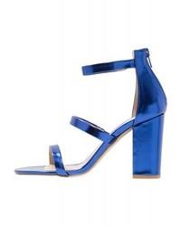 Sandales à talons en cuir bleues Dorothy Perkins