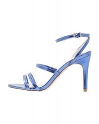 Sandales à talons en cuir bleues Faith