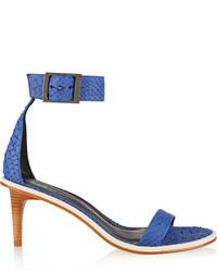 Sandales à talons en cuir bleues Tibi