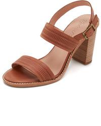 Sandales à talons en cuir brunes Madewell