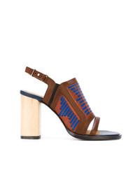 Sandales à talons en cuir brunes Thakoon Addition