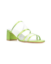 Sandales à talons en cuir chartreuses Maryam Nassir Zadeh