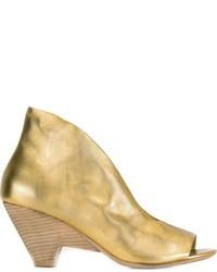Sandales à talons en cuir dorées Marsèll