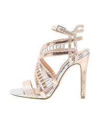 Sandales à talons en cuir dorées Miss KG