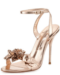 Sandales à talons en cuir dorées Sophia Webster