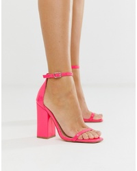Sandales à talons en cuir fuchsia SIMMI Shoes