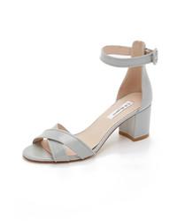 Sandales à talons en cuir grises LK Bennett