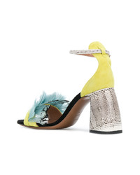 Sandales à talons en cuir jaunes L'Autre Chose