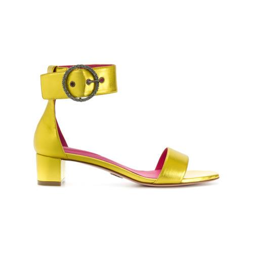 Sandales à talons en cuir jaunes Oscar Tiye